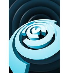 Abstract rotating circles with cut sectors vector image vector image