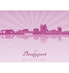 Bridgeport skyline in purple radiant orchid vector image vector image