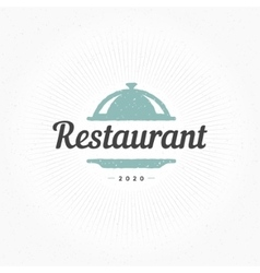 Hand Drawn Restaurant Cloche Design Element vector image vector image