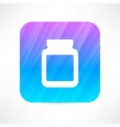 medicine jar with pills vector image