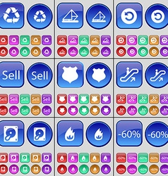 Recycling Message Power Sell Police badge vector image vector image