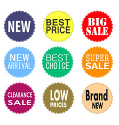 sale promo labels and stickers collection vector image vector image