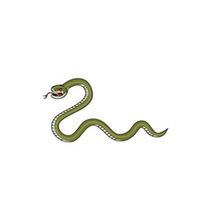 Serpent Coiling Side Isolated Cartoon vector image