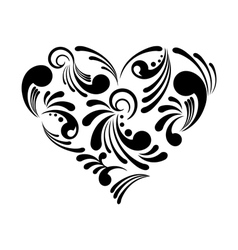 beautiful abstract heart vector image vector image