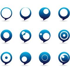 Blue Speech Bubble Icons vector image