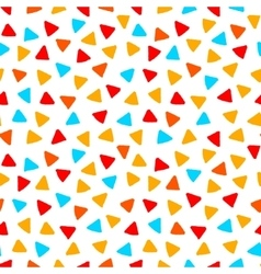 Colorful red orange yellow blue triangles hand vector