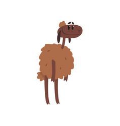Cute funny sheep character cartoon vector