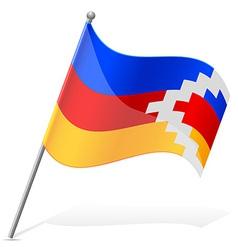 flag of Nagorno Karabakh Republic vector image vector image