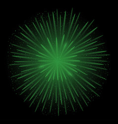 green realistic fireworks vector image vector image