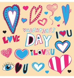 Hand Drawn Valentines Day Art vector image vector image