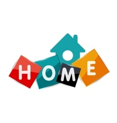 Home geometric banner design vector image