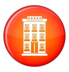 Hotel building icon flat style vector image