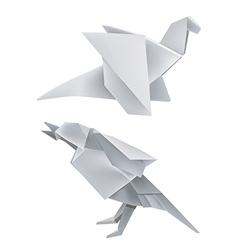 Origami dragon bird vector image