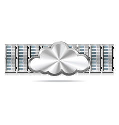 Servers and Cloud vector image