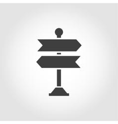 black signpost icon vector image