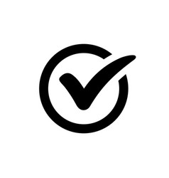 Check mark icon vector