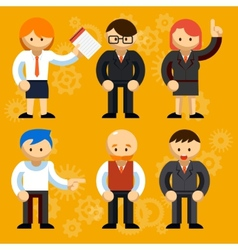 Different Businessmen Characters vector image vector image