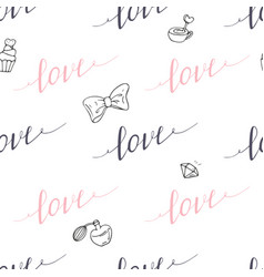 seamless pattern with hand drawn sign vector image vector image