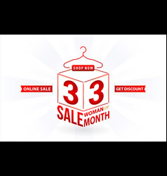 33 sale online sale woman months sale vector