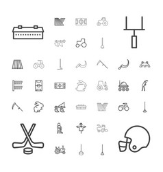 37 field icons vector