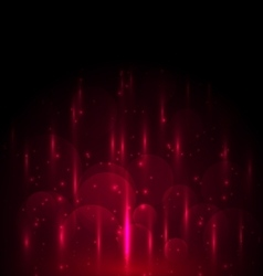 Abstract red light and bokeh glowing background vector