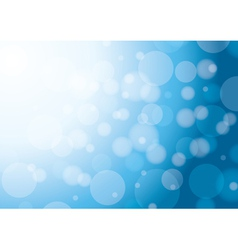 abstract white and blue background with bokeh vector image