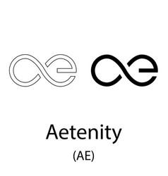 aetenity black silhouette vector image