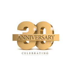 Anniversary 30 gold 3d numbers vector