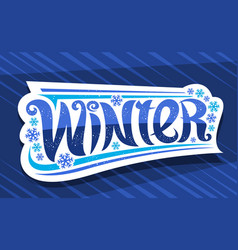 banner for winter vector image
