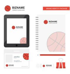 Basket ball business logo tab app diary pvc vector