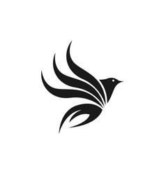 bird flat logo template design vector image