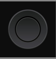 Black pressed round button 3d push button on vector
