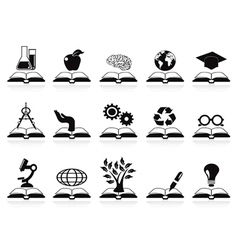 books concept icons set vector image