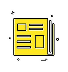 books icon design vector image