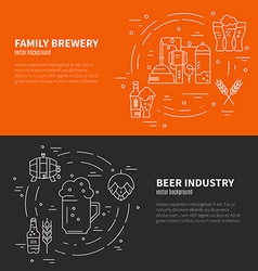 Brewery Flyers vector image