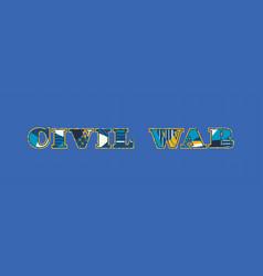 Civil war concept word art vector