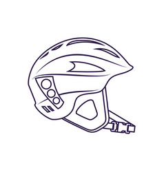 Climbing helmet isolated icon vector
