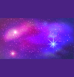 Colorful nebula in space background vector