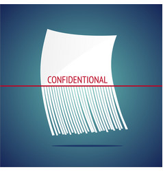 confidentional design concept with shreddered vector image
