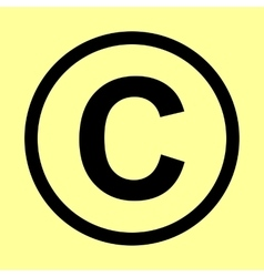 Copyright sign Flat style icon vector
