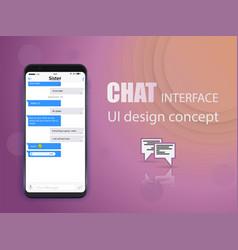 creative of messenger window vector image