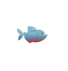Creative piranha fish logo vector