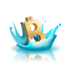 Currency water splash gold bath vector