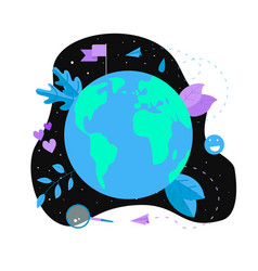 day of earth flat vector image