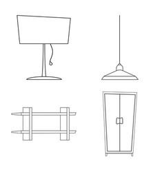 design of furniture and apartment symbol vector image