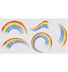 Different brushstrokes of rainbow vector