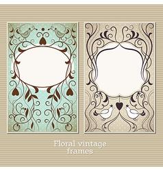 elegance vintage frame vector image