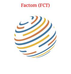 Factom fct logo vector