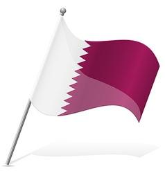 Flag qatar vector