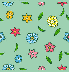 flamboyant flower seamless pattern vector image